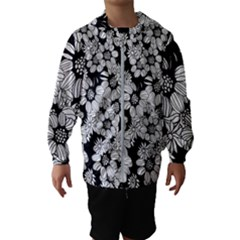 Mandala Calming Coloring Page Kids  Hooded Windbreaker