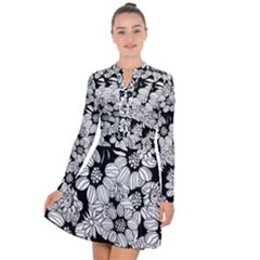 Mandala Calming Coloring Page Long Sleeve Panel Dress by HermanTelo