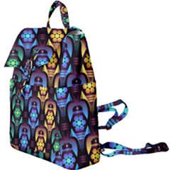 Pattern Background Bright Blue Buckle Everyday Backpack