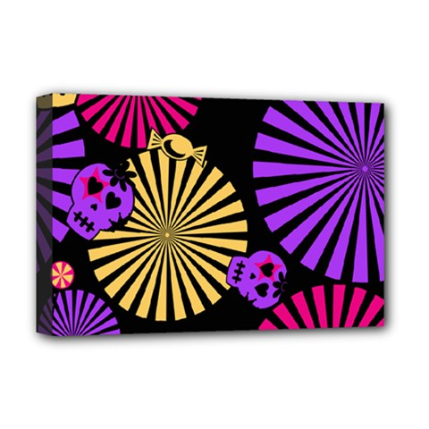 Seamless Halloween Day Dead Deluxe Canvas 18  X 12  (stretched)
