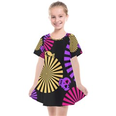 Seamless Halloween Day Dead Kids  Smock Dress by HermanTelo