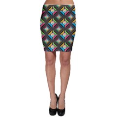 Pattern Pastels Background Bodycon Skirt