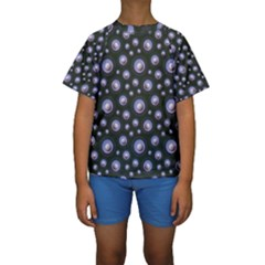 Seamless Pattern Background Circle Kids  Short Sleeve Swimwear by HermanTelo