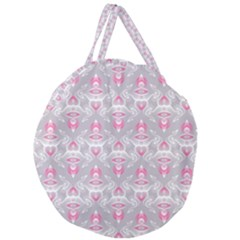 Seamless Pattern Background Giant Round Zipper Tote