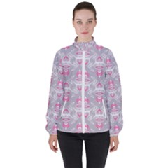 Seamless Pattern Background Women s High Neck Windbreaker