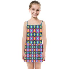 Squares Spheres Backgrounds Texture Kids  Summer Sun Dress by HermanTelo