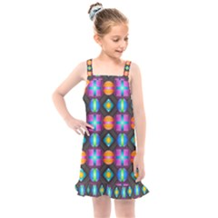 Squares Spheres Backgrounds Texture Kids  Overall Dress by HermanTelo