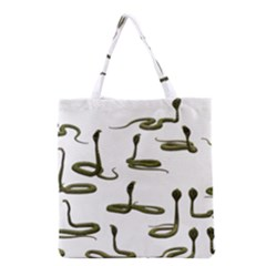 Snake Cobra Reptile Poisonous Grocery Tote Bag by HermanTelo