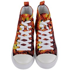 Star Radio Light Effects Magic Women s Mid Top Canvas Sneakers