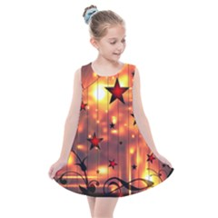 Star Radio Light Effects Magic Kids  Summer Dress by HermanTelo