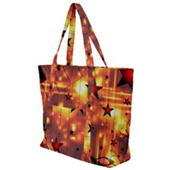 Star Radio Light Effects Magic Zip Up Canvas Bag