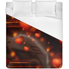 Valentine Day Love Heart Duvet Cover (california King Size) by HermanTelo