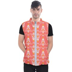 Seamless Pattern Background Red Men s Puffer Vest