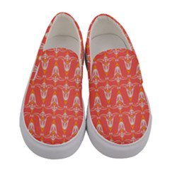 Seamless Pattern Background Red Women s Canvas Slip Ons