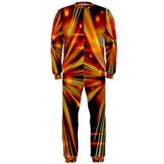Zoom Effect Explosion Fire Sparks Onepiece Jumpsuit (men)