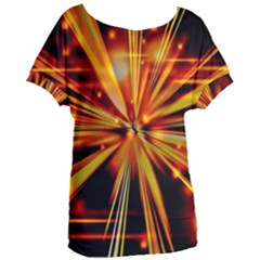 Zoom Effect Explosion Fire Sparks Women s Oversized Tee by HermanTelo