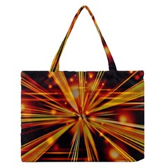 Zoom Effect Explosion Fire Sparks Zipper Medium Tote Bag