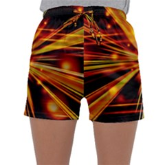 Zoom Effect Explosion Fire Sparks Sleepwear Shorts