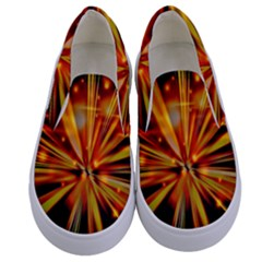 Zoom Effect Explosion Fire Sparks Kids  Canvas Slip Ons