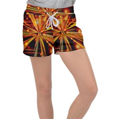 Zoom Effect Explosion Fire Sparks Women s Velour Lounge Shorts