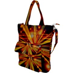 Zoom Effect Explosion Fire Sparks Shoulder Tote Bag by HermanTelo