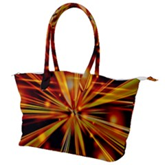 Zoom Effect Explosion Fire Sparks Canvas Shoulder Bag