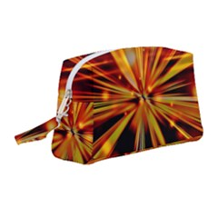 Zoom Effect Explosion Fire Sparks Wristlet Pouch Bag (medium)