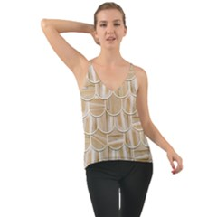 Texture Background Brown Beige Chiffon Cami