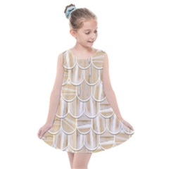 Texture Background Brown Beige Kids  Summer Dress by HermanTelo