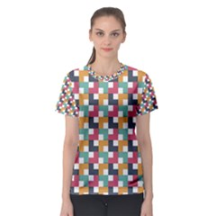 Abstract Geometric Women s Sport Mesh Tee by HermanTelo