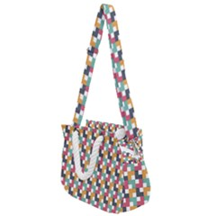 Abstract Geometric Rope Handles Shoulder Strap Bag by HermanTelo