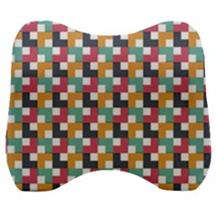 Abstract Geometric Velour Head Support Cushion