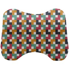 Abstract Geometric Head Support Cushion