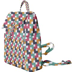 Abstract Geometric Buckle Everyday Backpack