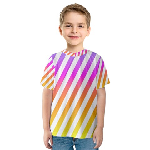 Abstract Lines Mockup Oblique Kids  Sport Mesh Tee by HermanTelo