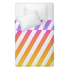 Abstract Lines Mockup Oblique Duvet Cover Double Side (single Size)