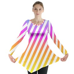 Abstract Lines Mockup Oblique Long Sleeve Tunic