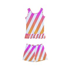 Abstract Lines Mockup Oblique Kids  Boyleg Swimsuit