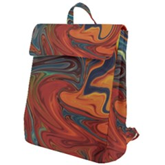 Abstract Art Pattern Flap Top Backpack by HermanTelo