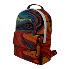 Abstract Art Pattern Flap Pocket Backpack (large)