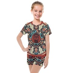 Grateful Dead Pacific Northwest Cover Kids  Mesh Tee And Shorts Set