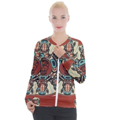 Grateful Dead Pacific Northwest Cover Casual Zip Up Jacket