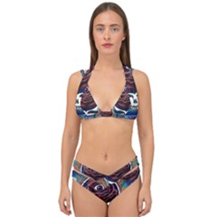 Grateful Dead Ahead Of Their Time Double Strap Halter Bikini Set
