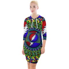 Grateful Dead Quarter Sleeve Hood Bodycon Dress