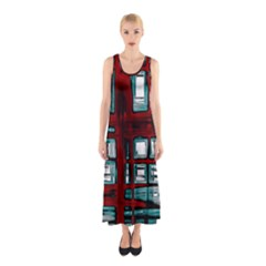 Abstract Color Background Form Sleeveless Maxi Dress by HermanTelo