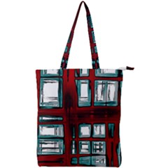 Abstract Color Background Form Double Zip Up Tote Bag
