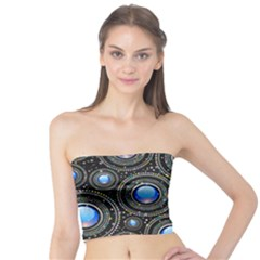 Abstract Glossy Blue Tube Top by HermanTelo