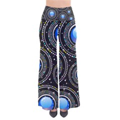 Abstract Glossy Blue So Vintage Palazzo Pants by HermanTelo