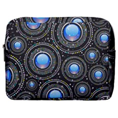 Abstract Glossy Blue Make Up Pouch (large) by HermanTelo