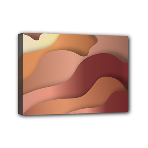 Autumn Copper Gradients Mini Canvas 7  X 5  (stretched) by HermanTelo